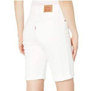Levi's White Bermuda Shorts Size 29 w/ Embroidery
